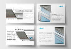 Set of business templates for presentation slides. Easy editable abstract flat layouts. Scientific medical research Stock Photos