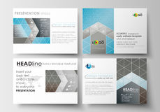 Set of business templates for presentation slides. Easy editable abstract flat layouts. Scientific medical research Royalty Free Stock Images