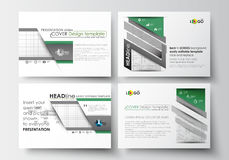 Set of business templates for presentation slides. Easy editable abstract layouts in flat design. Back to school. Background with letters made from halftone royalty free illustration