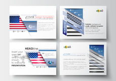 Set of business templates for presentation slides. Easy editable abstract layouts in flat design. Patriot Day background Stock Image