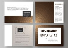 Set of business templates for presentation slides. Easy editable abstract vector layouts in flat design. Alchemical. Theme. Fractal art background. Sacred vector illustration