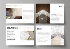 Set of business templates for presentation slides. Easy editable abstract vector layouts in flat design. Alchemical. Theme. Fractal art background. Sacred royalty free illustration