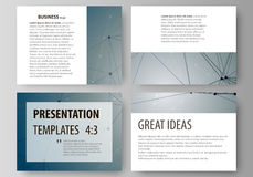 Set of business templates for presentation slides. Easy editable abstract vector layouts in flat design. DNA and neurons Stock Photos