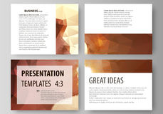 Set of business templates for presentation slides. Easy editable abstract vector layouts in flat design. Romantic couple Royalty Free Stock Photo
