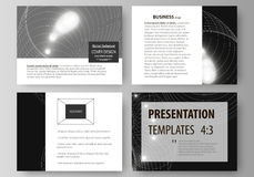 Set of business templates for presentation slides. Easy editable abstract vector layouts in flat design. Sacred geometry royalty free illustration