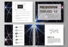 Set of business templates for presentation slides. Easy editable abstract vector layouts in flat design. Sacred geometry Royalty Free Stock Photography