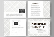 Set of business templates for presentation slides. Easy editable abstract vector layouts in flat design. Shiny fabric Stock Photos