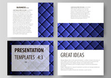 Set of business templates for presentation slides. Easy editable abstract vector layouts in flat design. Shiny fabric Stock Image