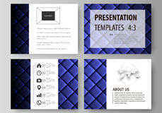 Set of business templates for presentation slides. Easy editable abstract vector layouts in flat design. Shiny fabric Stock Images