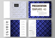 Set of business templates for presentation slides. Easy editable abstract vector layouts in flat design. Shiny fabric Royalty Free Stock Photo