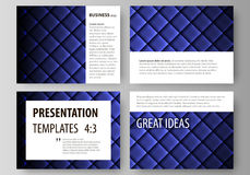 Set of business templates for presentation slides. Easy editable abstract vector layouts in flat design. Shiny fabric Royalty Free Stock Images
