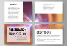 Set of business templates for presentation slides. Easy editable abstract vector layouts in flat style. Bright color Royalty Free Stock Image