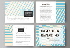 Set of business templates for presentation slides. Easy editable abstract vector layouts in flat style. Minimalistic Stock Images