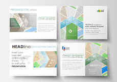 Set of business templates for presentation slides. Easy editable layouts. City map with streets. Flat design template Royalty Free Stock Photography