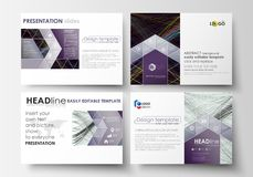 Set of business templates for presentation slides. Easy editable layouts in flat style, vector illustration. Abstract Stock Photos