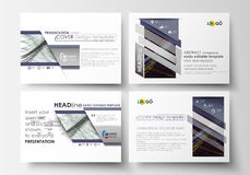 Set of business templates for presentation slides. Easy editable layouts in flat style, vector illustration. Abstract Stock Images