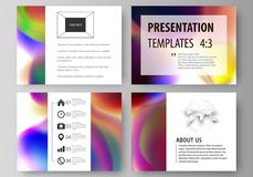 Set of business templates for presentation slides. Easy editable layouts in flat style, vector illustration. Colorful. Set of business templates for presentation Royalty Free Stock Images