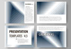 Set of business templates for presentation slides. Easy editable vector layouts in flat design. Simple monochrome Stock Images