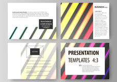 Set of business templates for presentation slides. Vector layouts in flat style. Bright color rectangles, colorful Stock Photography