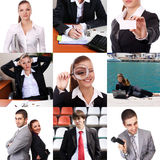 Set of business theme and people Royalty Free Stock Photos