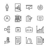 Set of business thin line icons Stock Images
