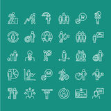 Set of business thin line people icons Royalty Free Stock Image