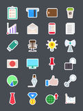 Set of business  vector icons Stock Photos