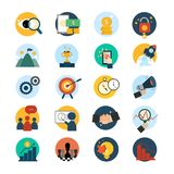 Set of business vectors icon Stock Image
