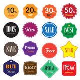 Set of  business vintage badges and labels. Royalty Free Stock Photos