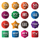 Set of business vintage badges and labels with long shadow Stock Images