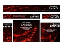 Set business web banners templates standard size. Design concept Stock Photos