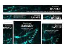 Set business web banners templates standard size. Design concept Royalty Free Stock Images