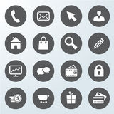 Set of business web shop icons Stock Images