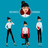 Set of business woman Royalty Free Stock Photo