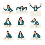 Set business woman Royalty Free Stock Photography