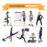 Set of business woman. Vector flat design illustration  Stock Photo