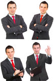 Set of businessman Stock Images