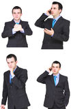 Set of businessman Royalty Free Stock Photos