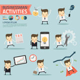 Set of businessman activities. Vector Stock Photos