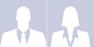 Set of businessman and businesswoman avatar profile pictures Stock Photos