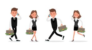 Set of Businessman and Businesswoman character vector design. no24. Set of Businessman and Businesswoman character vector design vector illustration