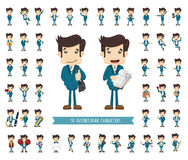 Set of businessman character Stock Image