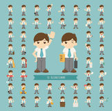 Set of businessman character Stock Photos