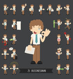 Set of businessman character Royalty Free Stock Photography