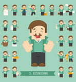Set of businessman character Royalty Free Stock Photo