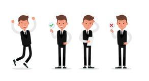 Set of Businessman character vector design. no23. Set of Businessman character vector design stock illustration