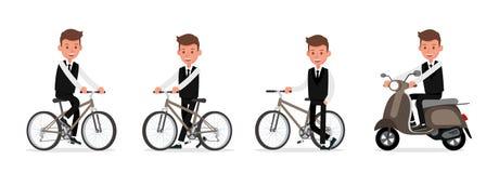 Set of Businessman character vector design. no30. Set of Businessman character vector design royalty free illustration