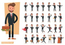 Set of Businessman character vector design. no15. Set of Businessman character vector design stock illustration