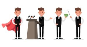 Set of Businessman character vector design. no22. Set of Businessman character vector design royalty free illustration