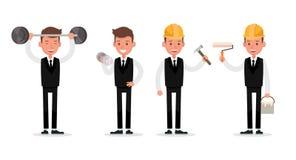 Set of Businessman character vector design. no24. Set of Businessman character vector design stock illustration